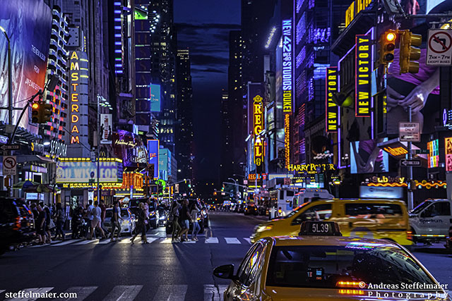 andreas steffelmaier photography times square at night