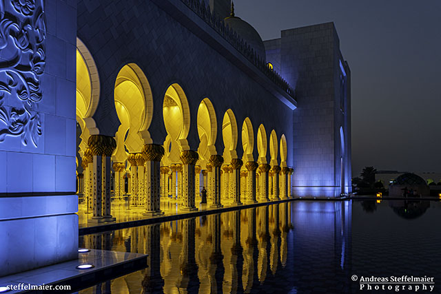 Sheikh Zayed Grand Mosque walkway Andreas Steffelmaier Photography