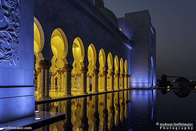 Sheikh Zayed Grand Mosque walkway Andreas Steffelmaier Photography