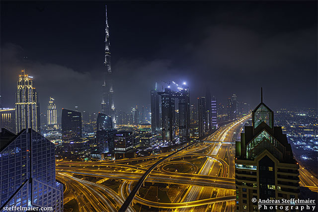 Andreas Steffelmaier Photography Downtown Dubai from the Shangri-La