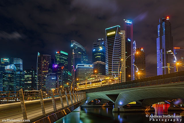 Andreas Steffelmaier Photography Esplanade Bridge Singapore