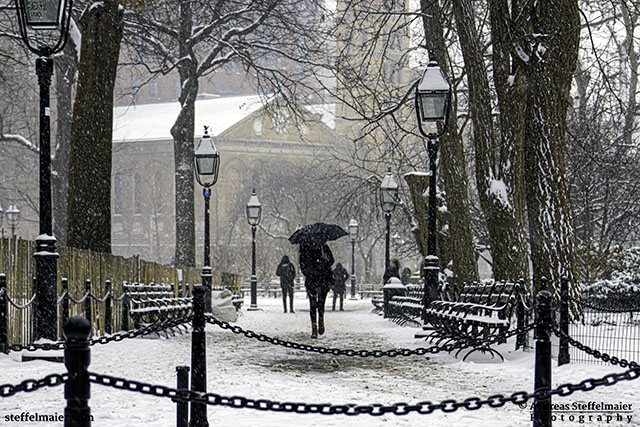 Andreas Steffelmaier Photography Washington Square in snow