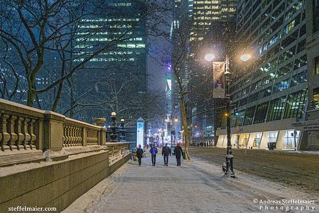 Andreas Steffelmaier Photography Snowfall in Manhattan