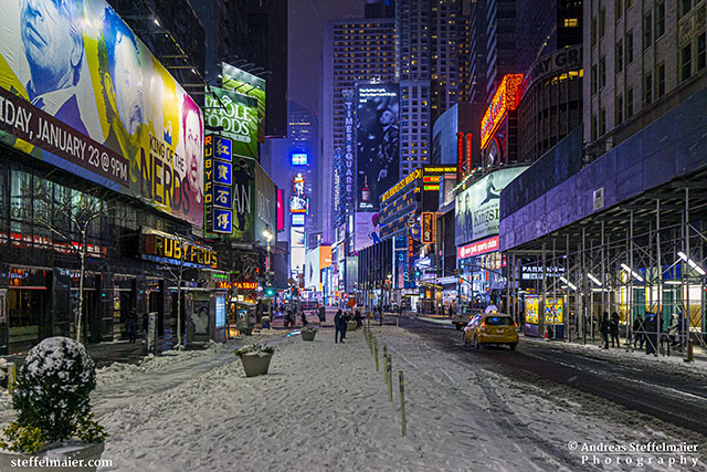 Andreas Steffelmaier Photography Times Square in snow