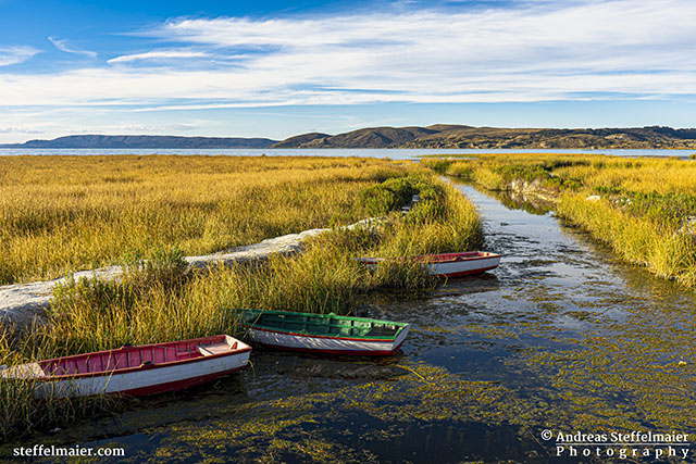 Andreas Steffelmaier Photography Boats along Lake Titicaca